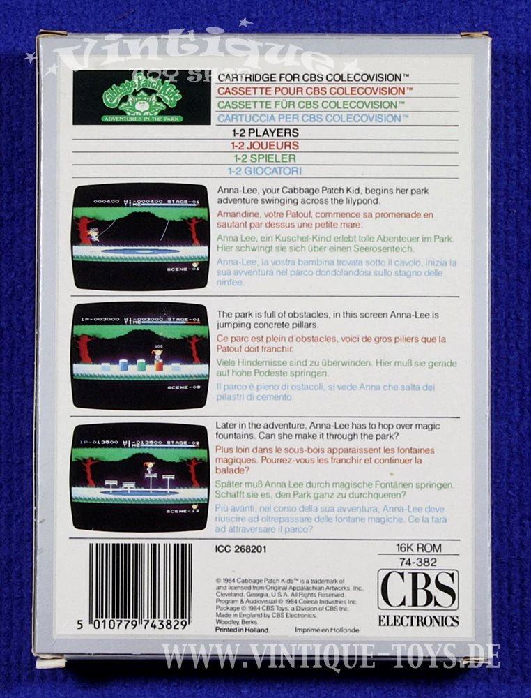CABBAGE PATCH KIDS ? ADVENTURES IN THE PARKSpielmodul / cartridge ...
