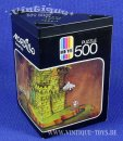 500 Teile PUZZLE MORDILLO: SURPRISE PARTY in Dreieck-Box,...
