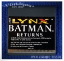 BATMAN RETURNS Spielmodul / cartridge für Atari Lynx...