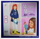 Paper Doll / Magnetische Ankleidepuppe MAGIC MARY ANN, MB...