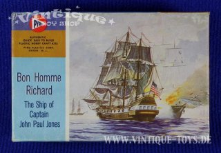 1:500 Bausatz Antique Ship Model BON HOMME RICHARD, Pyro Plastics / New Jersey, ca.1966