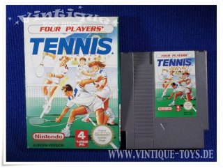 4 PLAYERS TENNIS Spielmodul / cartridge für Nintendo NES, Nintendo, ca.1991