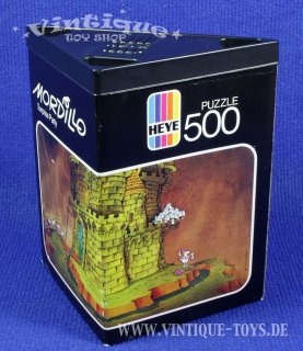 500 Teile PUZZLE MORDILLO: SURPRISE PARTY in Dreieck-Box, Heye Verlag, 1983