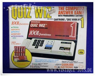 Coleco QUIZ WIZ Hand Held elektronisches Computerspiel in OVP; Coleco Industries, USA, 1978