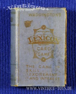 LEXICON Card Game, John Waddington Ltd., ca.1933