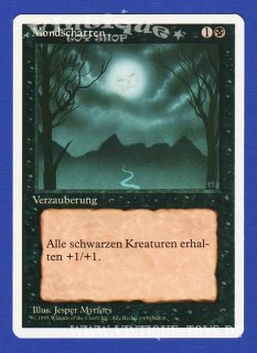 MAGIC THE GATHERING Rare Einzelkarte MONDSCHATTEN (BAD MOON) aus DIE ZUSAMMENKUNFT unlimitierte Revised Edition Deutsch, Wizard of the Coast, 1994
