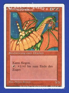 MAGIC THE GATHERING Rare Einzelkarte SHIVAN-DRACHE (SHIVAN DRAGON) aus DIE ZUSAMMENKUNFT unlimitierte Revised Edition Deutsch, Wizard of the Coast, 1994