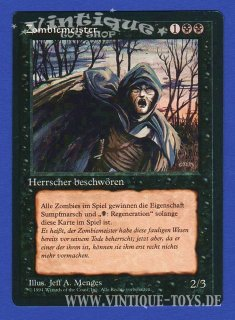 MAGIC THE GATHERING Rare Einzelkarte ZOMBIEMEISTER (ZOMBIE MASTER) aus DIE ZUSAMMENKUNFT limitierte Revised Edition Deutsch, Wizard of the Coast, 1994