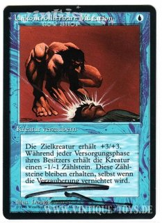 MAGIC THE GATHERING vom Illustrator Douglas Shuler signierte Einzelkarte UNKONTROLLIERBARE MUTATION aus DIE ZUSAMMENKUNFT limitierte Revised Edition Deutsch, Wizard of the Coast, 1994