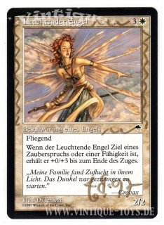 MAGIC THE GATHERING vom Illustrator signierte Einzelkarte LEUCHTENDER ENGEL aus STURMWIND Edition Deutsch, Wizard of the Coast, 1997