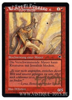 MAGIC THE GATHERING vom Illustrator signierte Einzelkarte VERSCHWIMMENDE MAUER aus STURMWIND Edition Deutsch, Wizard of the Coast, 1997