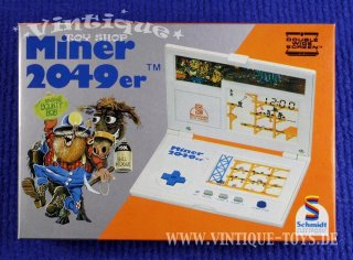 Tiger LCD Double Wide Screen Handheld Game MINER 2049er in OVP; Tiger Electronic Toys (dtsch. Vertrieb Schmidt-Spiele), 1984, Extrem selten!