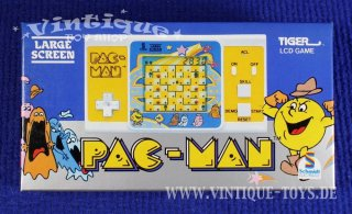 Tiger LCD Handheld Game PAC-MAN in OVP, Tiger Electronic Toys (dtsch. Vertrieb Schmidt-Spiele), 1984