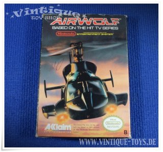 AIRWOLF Modul für Nintendo NES in OVP, Acclaim, ca.1989