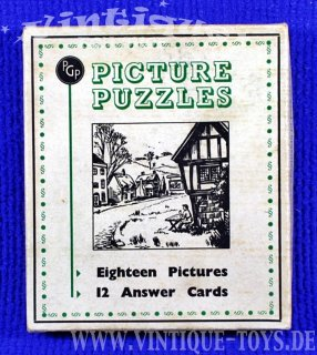 PICTURE PUZZLE GAME NO.30, PGP Party Games Publishers, Luton (GB), ca.1948